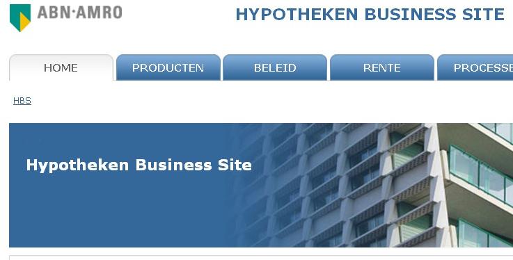 Hypotheken Business Site ABN AMRO