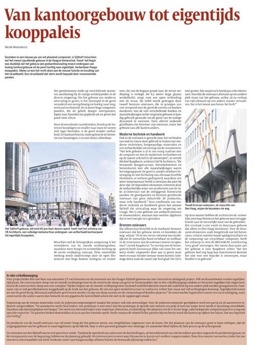 Artikel Cobouw over de Sijthoff in Den Haag